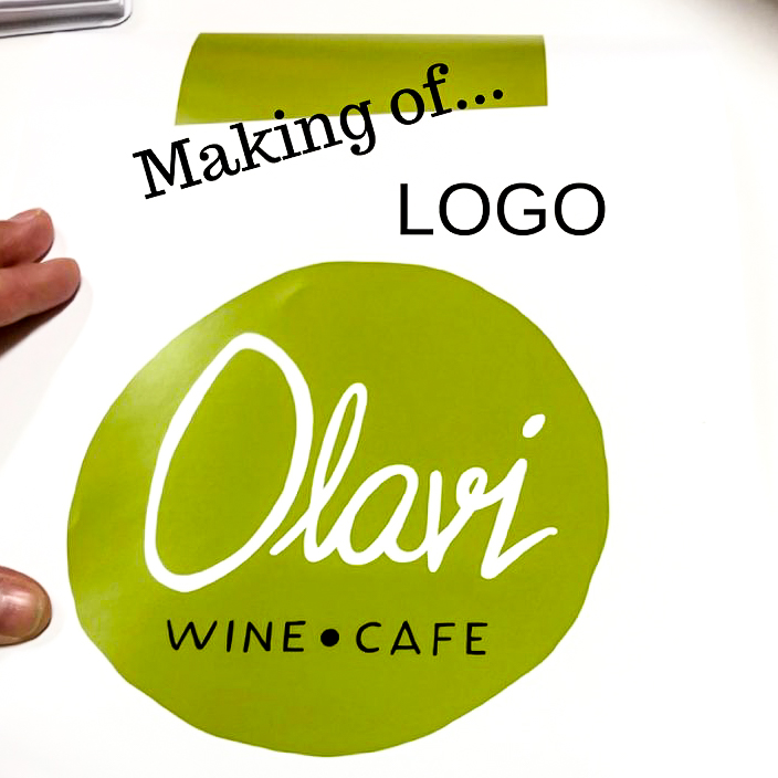 Kuva making of Wine Cafe Olavi -logo